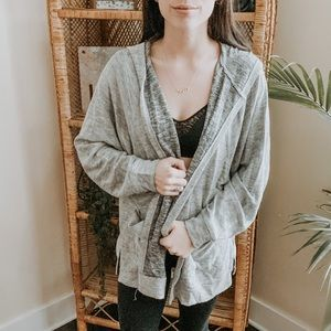Urban Outfitters Gray Terry Cloth Cardigan